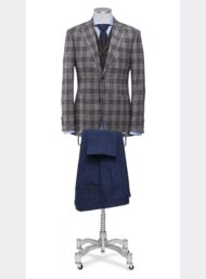 bruin-kostuum-ruit-blauwe-kostuumbroek