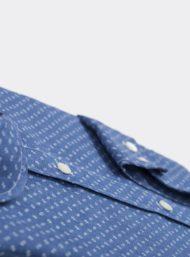 donkerblauw-hemd-maatwerk-fijne-bloemenprint