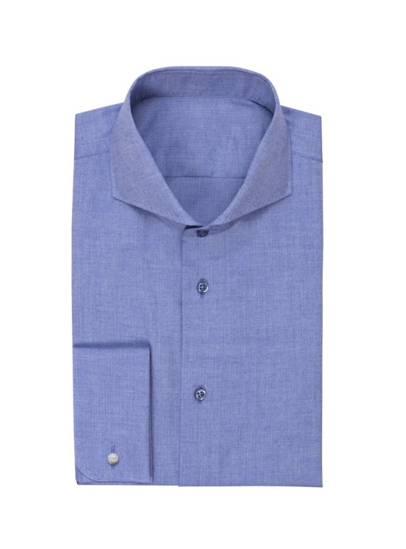 Effen Blauw Hemd voor heren op maat