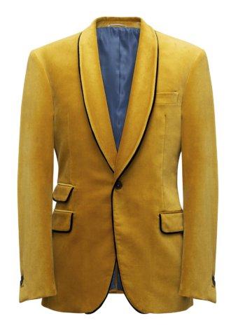 gele colbertjas of kostuumvest op maat