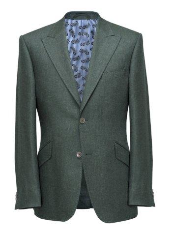 Groene colbertjas voor heren op maat gemaakt