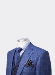 kostuumvest-blauwe-ruit-maatwerk