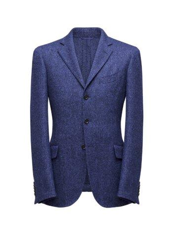 blauwe effen colbert jas op maat - herenkleding