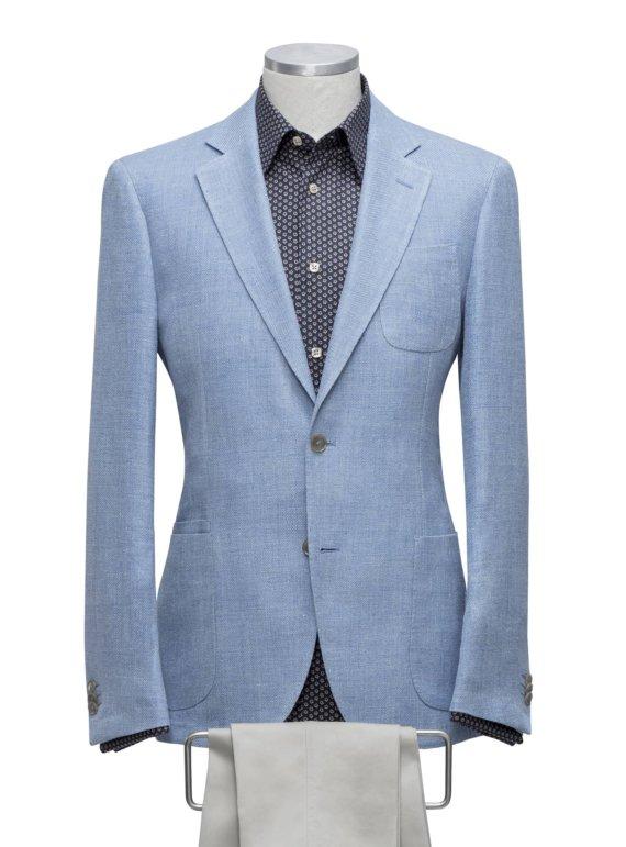 Blauwe colberjas voor heren op maat gemaakt