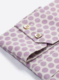 mouw-paarse-bollenprint-herenhemd-maatkleding