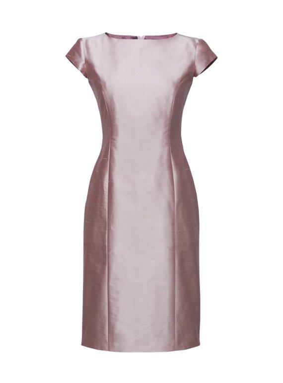Roos feestelijke jurk op maat gemaakt