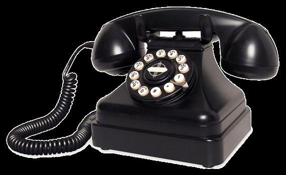 vintage telefoon Laat u terugbellen