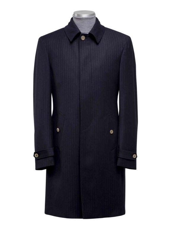 Donkerblauwe Overjas met strepen